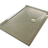 Grey granite style shower tray with anti slip finish.