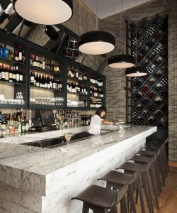 Bar inspiration marble bar tops make a comeback - Classic bar counter design ...