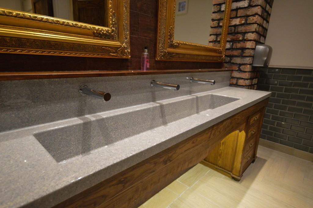 Bespoke wash trough used at the Angel Pub
