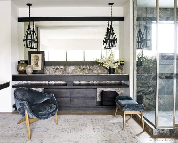 Luxury celebrity bathrooms versital for Elle decor bathrooms