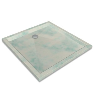 Emerald green marble shower tray