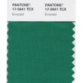 Pantone colour swatch and colour of 2013 emerald