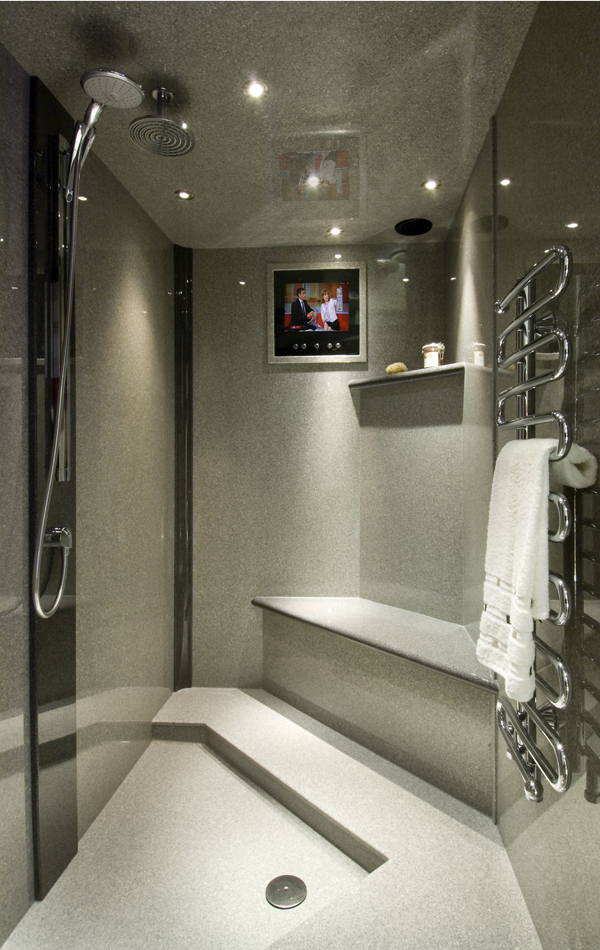 Stone Resin Grey Granite Bespoke Shower Tray from Versital