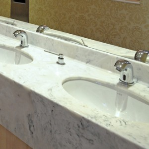 Thumbnail - multiple bowl Vanity tops in marble Arabesque