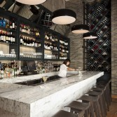 Bar Inspiration Marble Bar Tops Make A Comeback