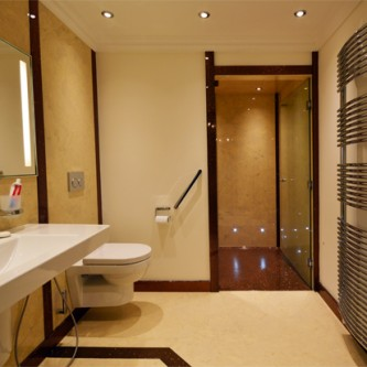 Easy Access Bathroom with Large Shower