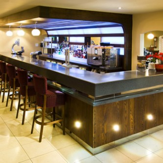 Bar top in Granite finish 'Dusk' at Formby Golf Club.