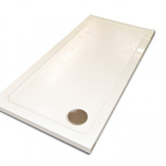 Bespoke shower tray for small shower area.