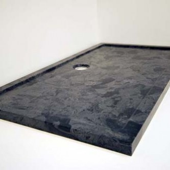 Bespoke shower tray in 'Gloucester' slate grey finish.