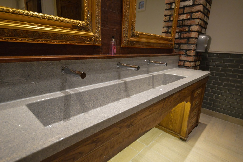 Bespoke wash trough used at the Angel Pub
