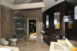 50 cent's beautiful marble bathroom