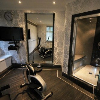 Grey Granite style wetroom and steam room