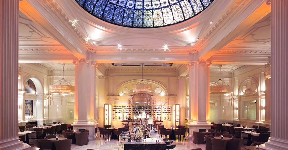 The stunning ballroom at the Andaz Hotel London where Versital have been involved in refurbishing