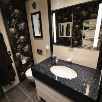 Black Sparkle Vanity Top
