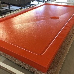 Bright RAL orange shower tray