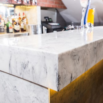 Arabesque marble bar top