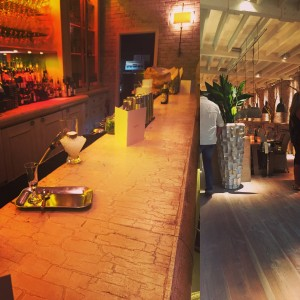 Chic trendy bar Australasia in Manchester with white washed walls