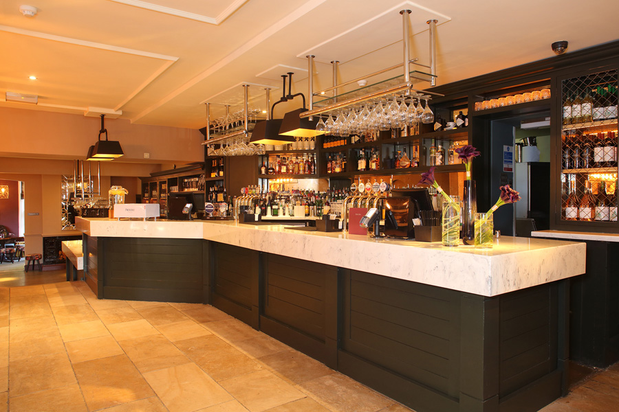 Mitchells and Butlers have specified Versital marble for it's marble bar tops and table tops.