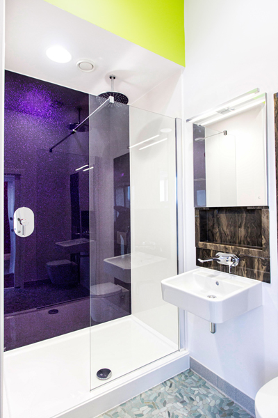 Contemporary bathroom design at Royal Quays Marina Newcastle