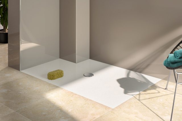 Minima shower tray flat bathroom solution