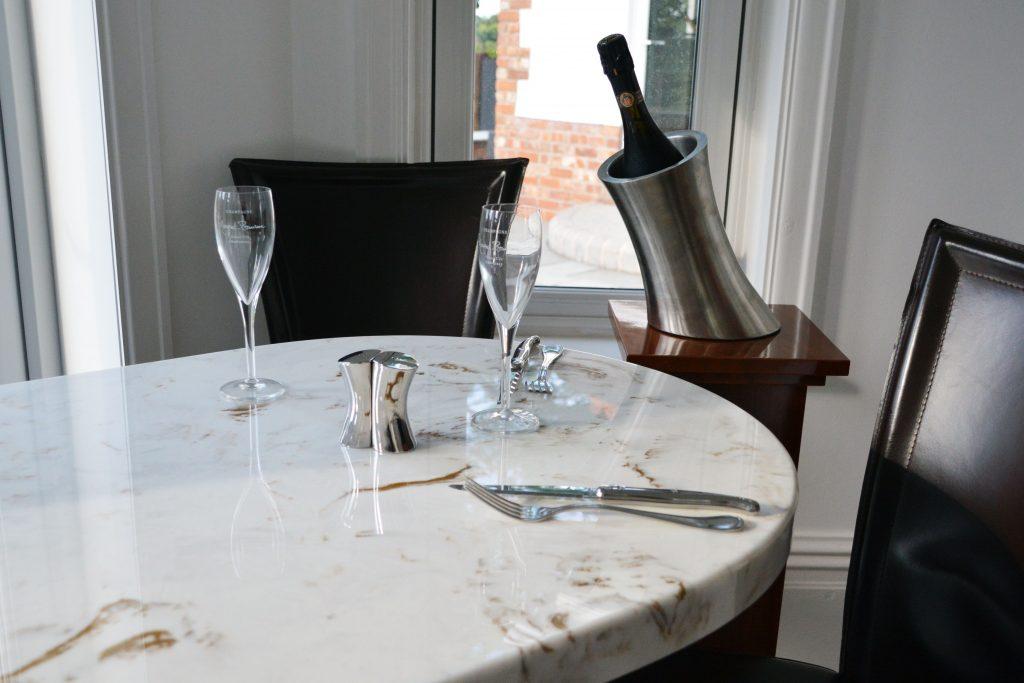 Gold startos marble table top