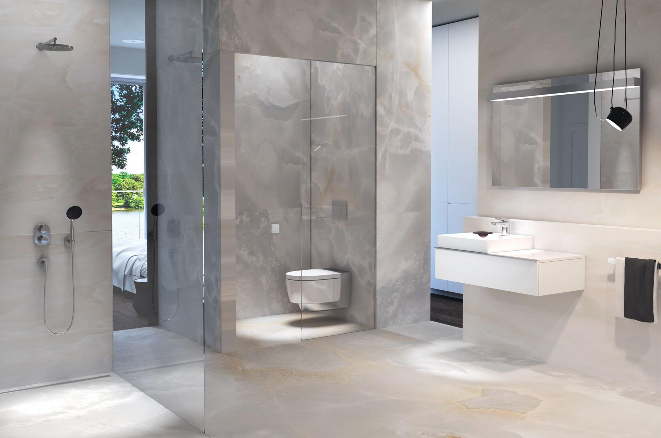 gray bathroom walls - HD1800×1272