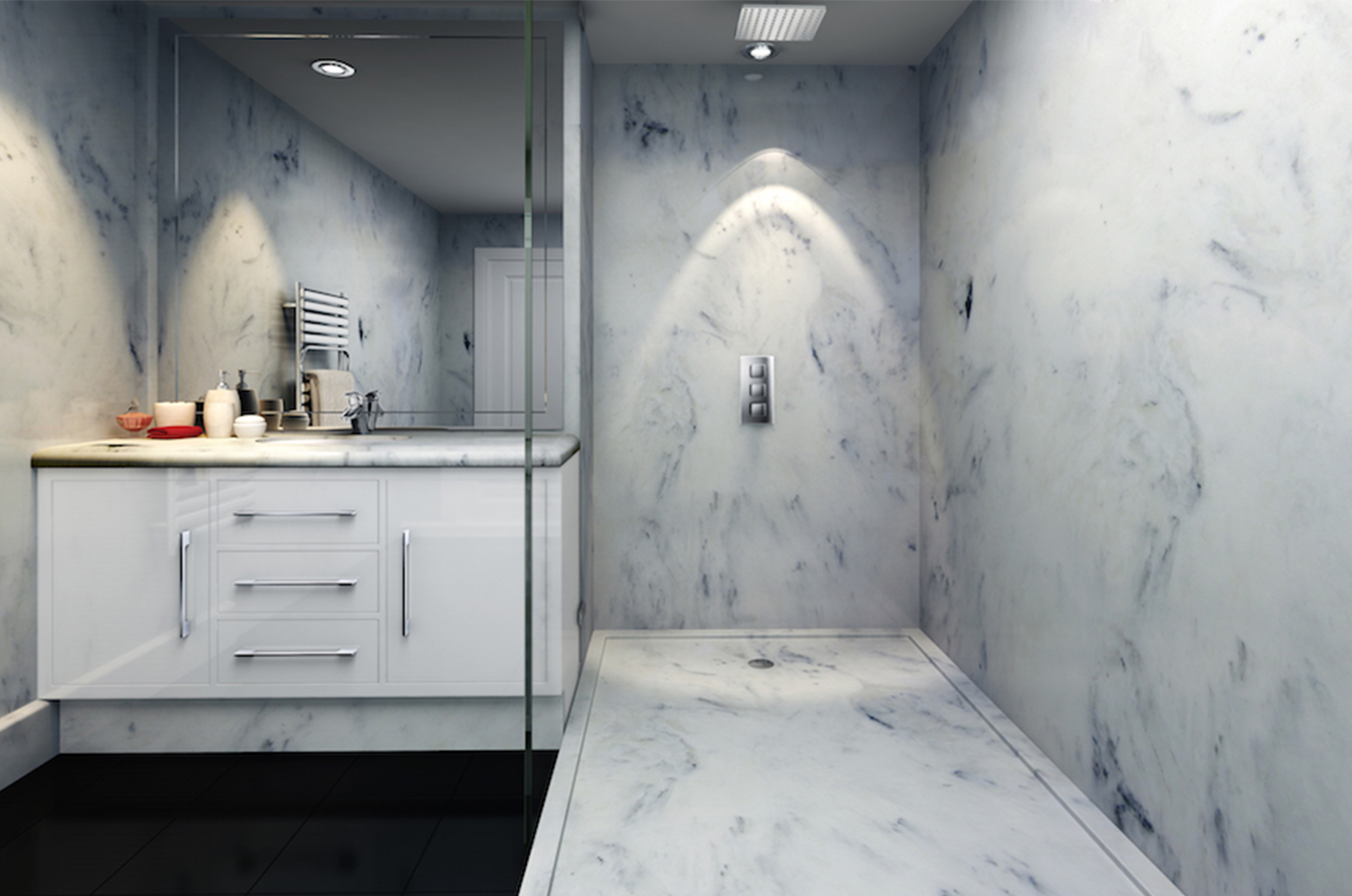 Marble Bathroom Created Using The Original Product Range From Veristal