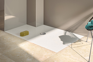 minima bespoke shower tray flat with no rim