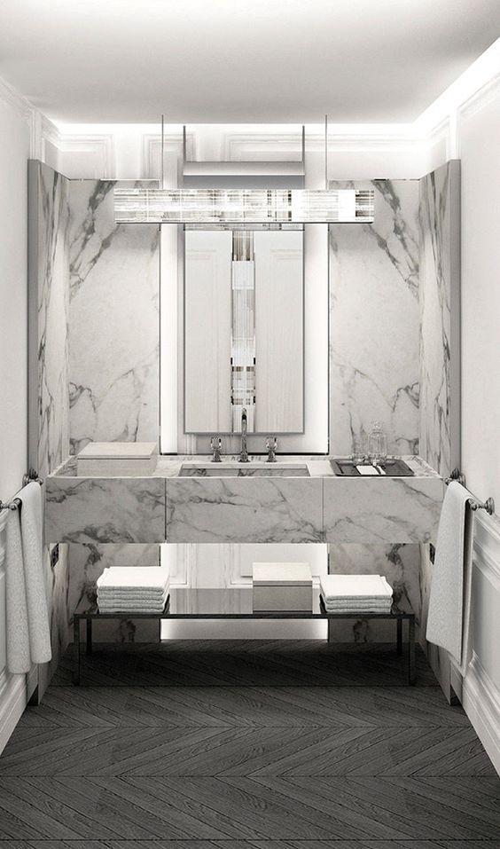 baccarat hotel ny marble bathroom inspiration