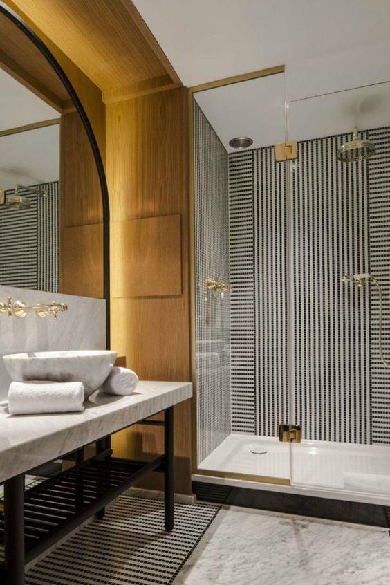 Home Inspiration Ideas - Parisian Chic Bathroom