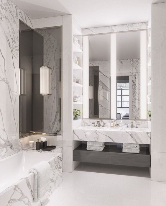 marble vanity top from marina wright