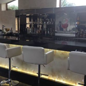Bar Front Panels in Autumn Onyx Marble Finish