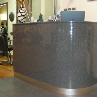 Bar Front and Bar Top in Graphite Granite Finish