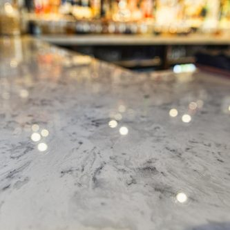 Bar Top in Arabesque Marble Finish
