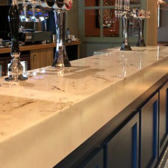 Bar Top in Gold Stratos Metallic Marble Finish