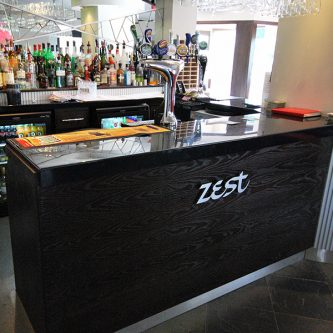Bar Top in Noire Granite Finish