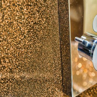 Bathroom Wall Panels in Coco Loco Reflect Finish