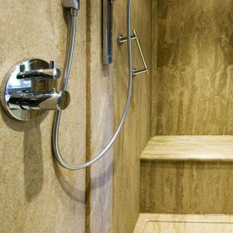Full Wet Room in Sandstone Granite Finish