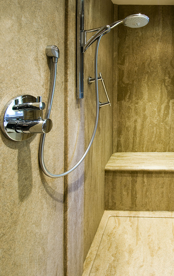 Full Wet Room in Sandstone Granite Finish