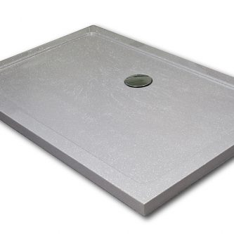 Shower Tray from Versital Just Silver Reflect Finish