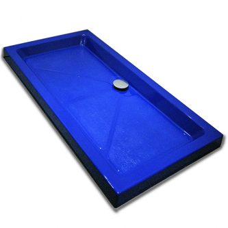 Shower Tray in Blue Solid RAL Finish
