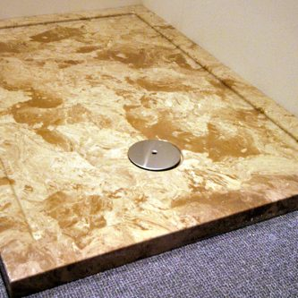 Shower Tray in Coffee Creme Marble Finish