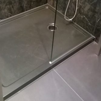 Shower Tray in Deep Grey Solid RAL Finish