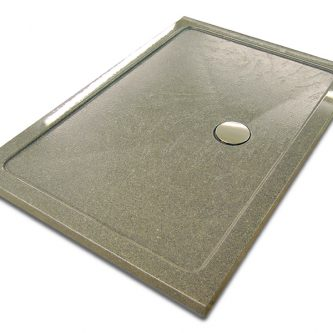 Shower Tray in Graphite Granite Finish