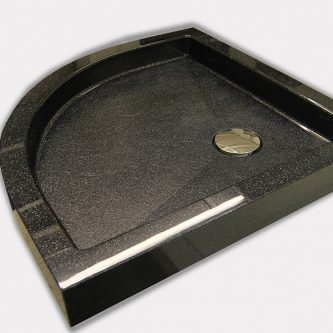Shower Tray in Noire Reflect Sparkle Finish from the Reflect Range