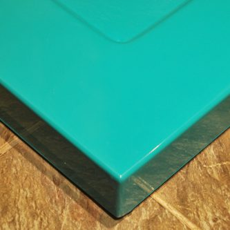 Shower Tray in Turquoise Solid RAL Finish