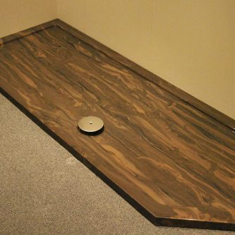Shower Tray in Wenge Marble Finish