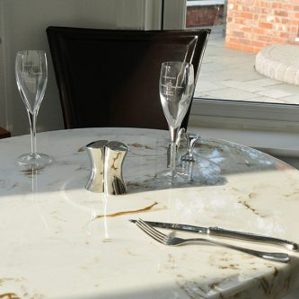 Table Top in Gold Stratos Metallic Marble Finish