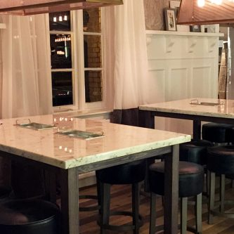 Table Tops in Arabesque Marble Finish