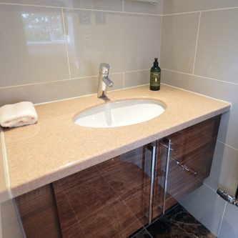 Vanity Top in Almond Granite Finish